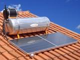 Foto de um equipamento solar térmico